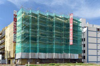 Andamios refuerzo estructura estructural pintura medianeras vigas pilares